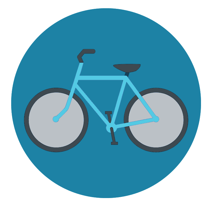 vector of bicycle in a circle