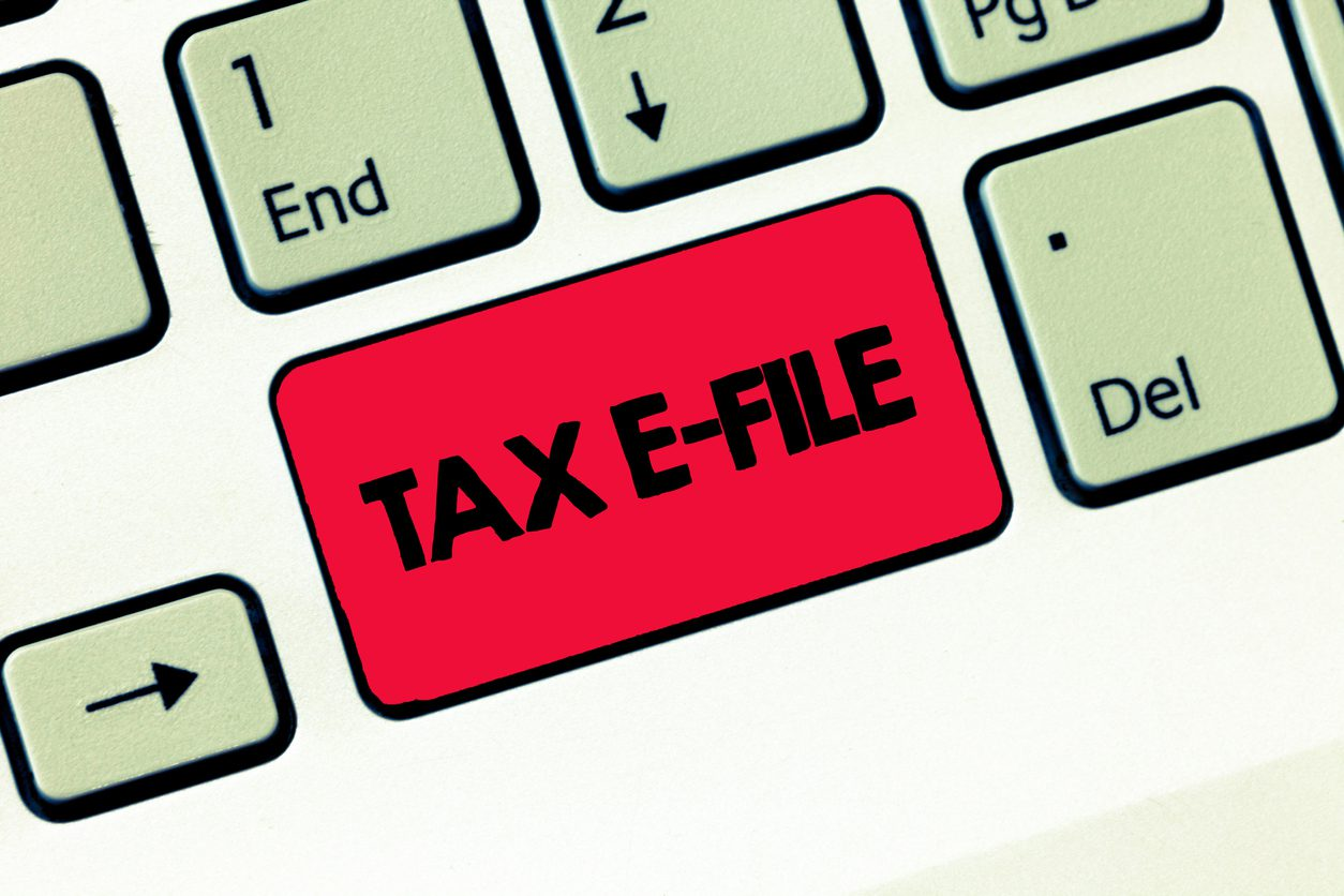 Text sign showing Tax E File. Conceptual photo System submitting tax documents to US Internal Revenue Service