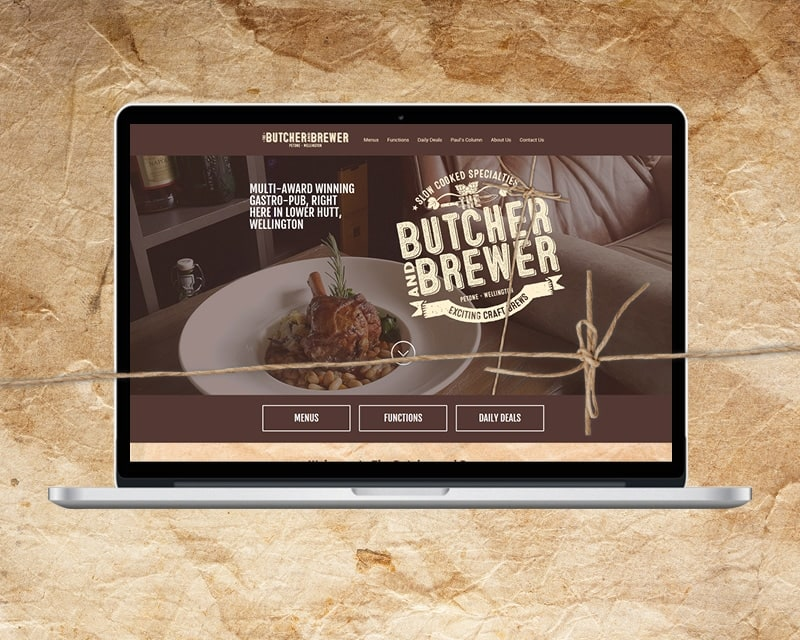 Butcher and Brewer Website